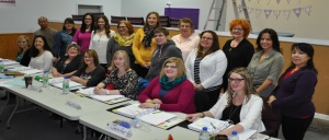 Participants in the Bounce Back and Thrive training sessions included:  Front: (l-r) Natasha Cadwell, Rhea Dale, Cathy Earles, Sherry Squires, Anne Marie Freake, Jennifer Hayden, Sherri-lynn  Mulrooney.  Back: Joselito Libres, Vickie Biles, Tara Thomas, Megan Churchill, Charlene Rumbolt, Sarah Hunt, Amanda Harnom, Diane Lake, Janice Allen-Parsons, Jennifer Pearson, Lisa Wiggins and Sandra Dicker.