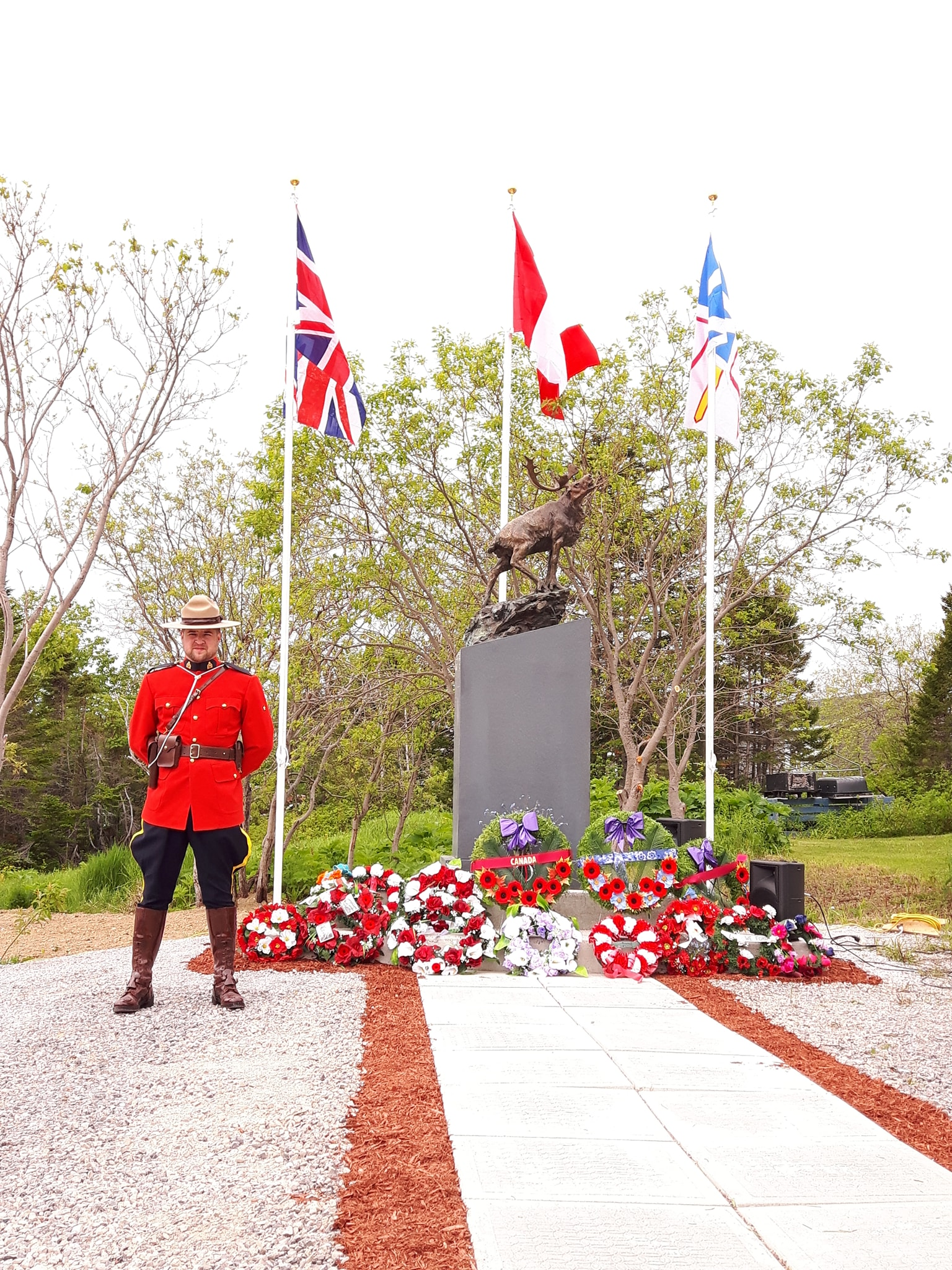 The IGA Helped to Fund a World War 1 Monument in Main Brook This Past Year!